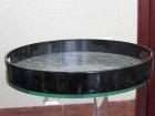 . Khay tròn đen V001013