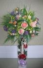 Bình TT tròn, hoa hồng phấn G000022 (hết hàng)