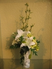 Bình gốm Lily trắng G000108-1(hết hàng)
