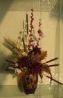 Bình hoa khô, lá vạn tuế D000020