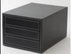 Hộp đựng hồ sơ 3 ngăn đen(36xH20cm)_QT101015