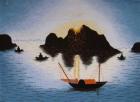 .Tranh thêu Hoàng Hôn trên Biển  T001037