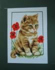 ,Tranh thêu Mèo vàng (25*33) T001057