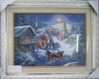 ;Tranh thêu ngôi nhà tuyết (60*48) T001033