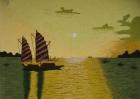 Tranh thêu Thuyền và Biển  T001042(Hết hàng)