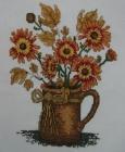 ,Tranh thêu cốc hoa van thọ T001053