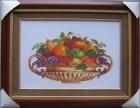 ;Tranh thêu hoa quả (72*55) T001026
