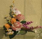 Đĩa hoa hồng trắng tím D000070